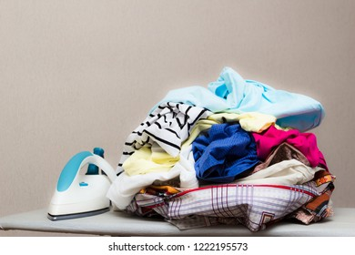 girl ironing clothes