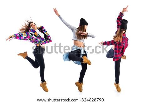 Girl Jumping Hip Hop Style Foto de stock (editar ahora)324628790 ...