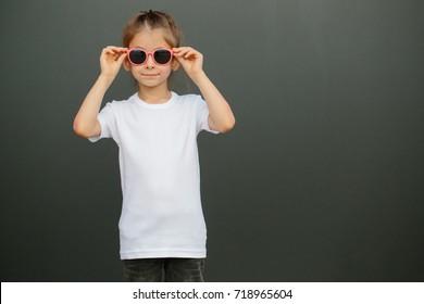 Child T Shirt Mockup Images Stock Photos Vectors Shutterstock