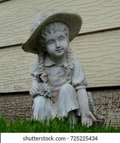 Girl Lawn Statue