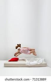 Girl in levitation