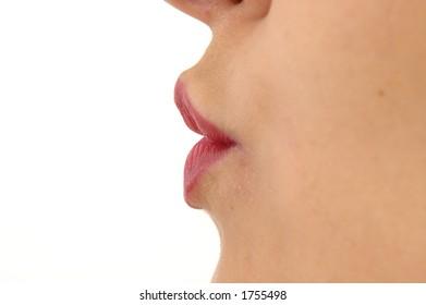 Girl Lips sending a french kiss