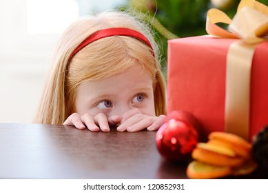 girl looking for a gift