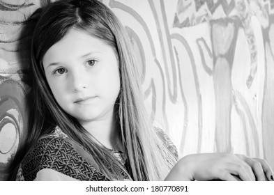 Girl Looking Into Camera