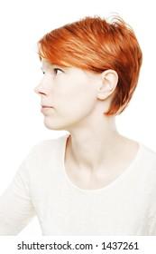 girl looking something