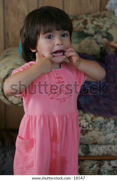 girl making funny face 2