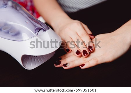 Girl Master Manicure Makes Gel Nails Stock Photo Edit Now
