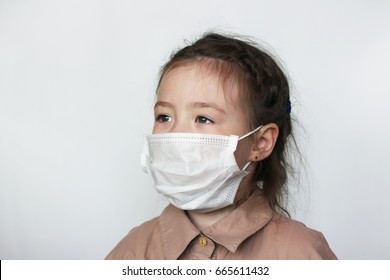 Girl in the medical mask