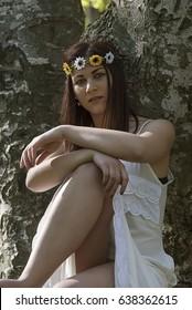Girl in nature posing