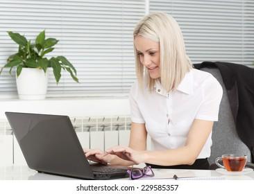girl near a computer