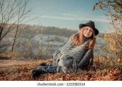 Girl near the Zakrzowek lake in Cracow, Poland