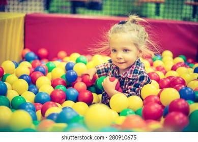 Girl on the balls