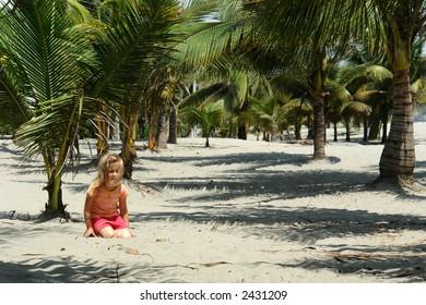 girl on the beach. pacific ocean. ecuador. south america