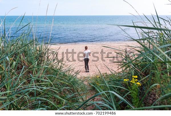 Girl on Coast of the Azov Sea, Crimea, Kerch, General Beaches