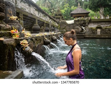 girl on holy springs bali