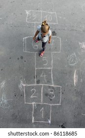 girl on the hopscotch