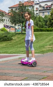 Girl on the hoverboard