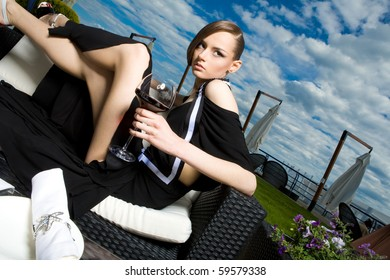 a girl on rest