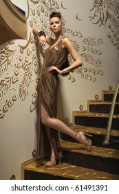 a girl on the stairs