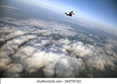 girl on top of clouds