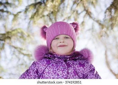 the girl on winter walk