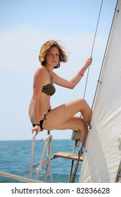 girl on a yacht