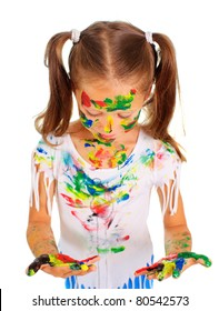 Girl with paint