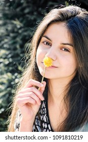 Girl with perfect skin on a sunny day. Innocence collection