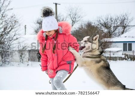 49b7a38e3fa Girl Pink Jacket Hat Runs Snow Stock Photo (Edit Now) 782156647 ...