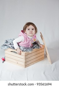 girl playing in the box