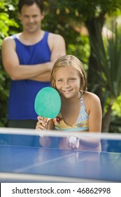 Girl Playing Ping-Pong