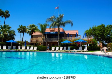 Girl Poolside in Palm Springs