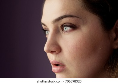 Girl portrait with emotional expression