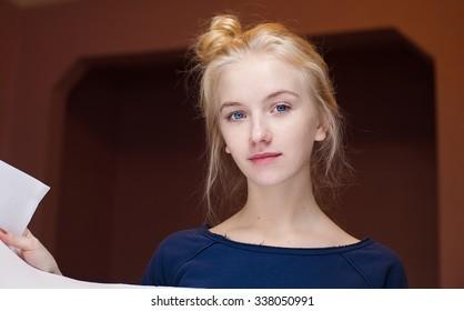 girl portrait home