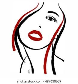 Girl portrait illustration