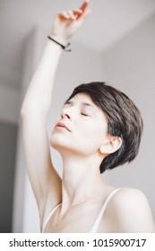 girl in pose of balerine