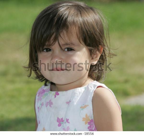 girl posing outdoors