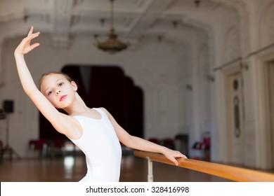 girl practicing ballet