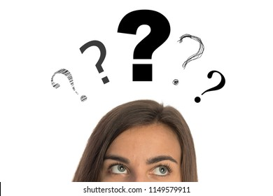 Girl with a question mark