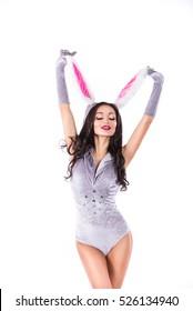 girl in rabbit costume