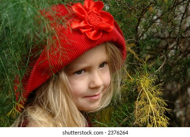 the girl in red hat