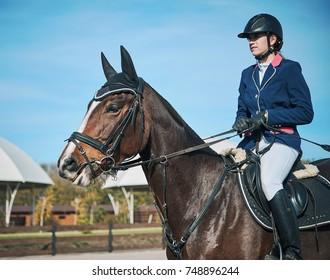 girl rider on horse