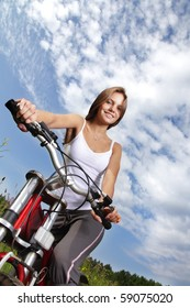 girl riding on bicycle