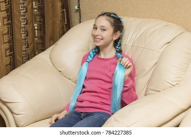 db4c81754 Beautiful Calm Smiling Kid Girl Sitting Stock Photo (Edit Now ...