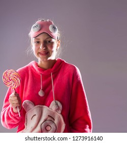 Girl with a round candy, Children's pajamas. This is one of the bestsellers - he is not surprised. It is not always the case that it was soothingly light. Gumdrops is a type of candy.