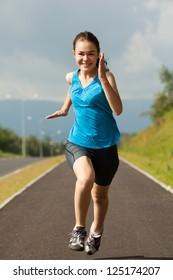 Girl running outdoor