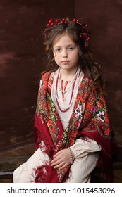 The girl in the Russian outfit