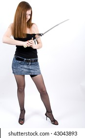 girl with sabre