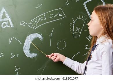 Girl schoolgirl