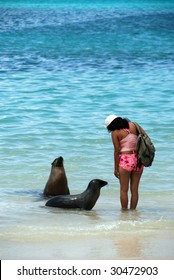 Girl with Sea Lion